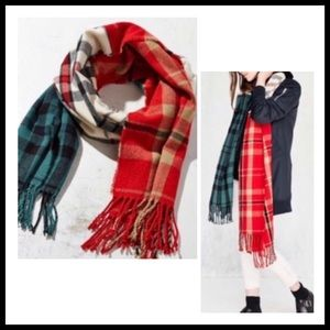 URBAN OUTFITTERS Multi-Plaid Scarf